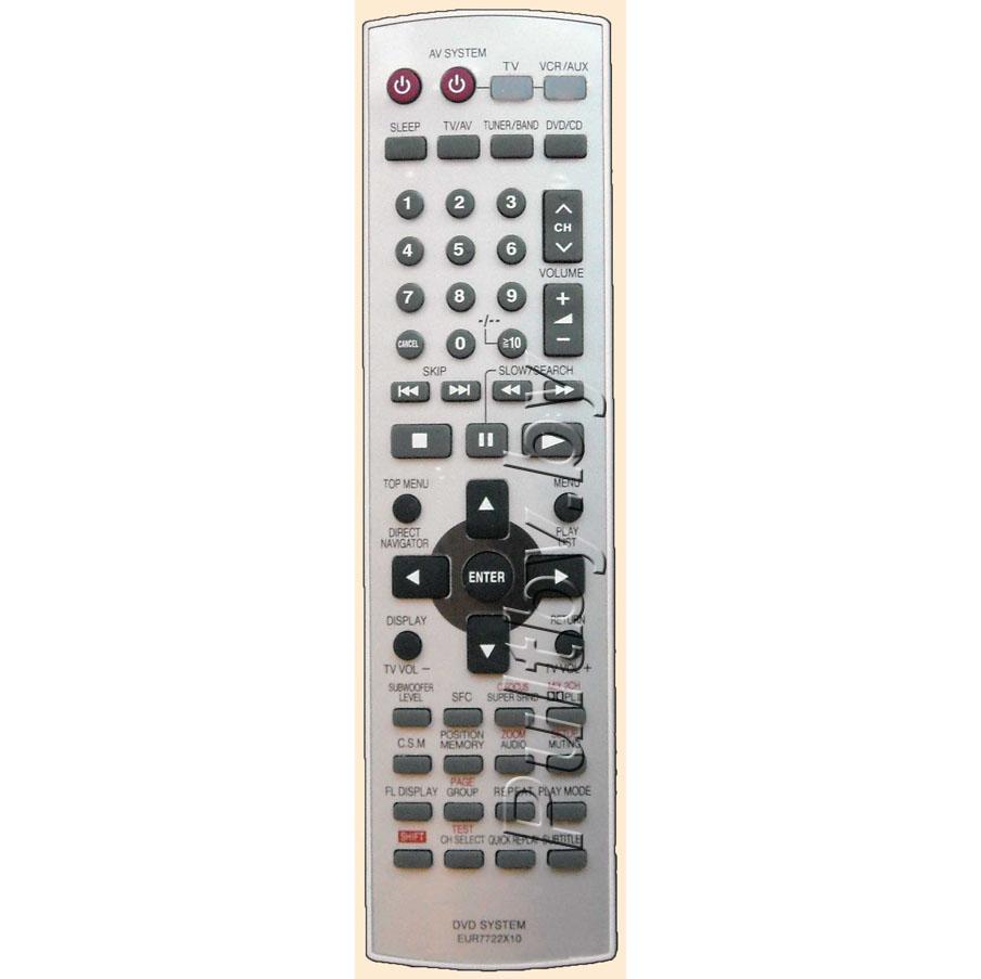 PANASONIC EUR7722X10 UNIVERSAL RC DVD